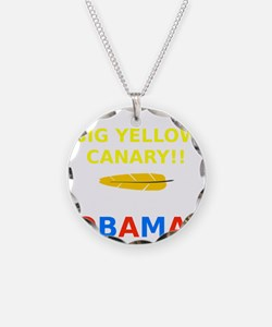 Big Yellow Canary Necklace
