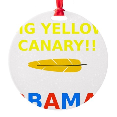 Big Yellow Canary Round Ornament