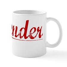 Callender, Vintage Red Mug