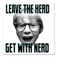 """Leave the Herd, Get with Square Car Magnet 3"""" x 3"""""""