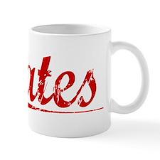 Cates, Vintage Red Mug