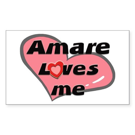 amare loves me Rectangle Sticker