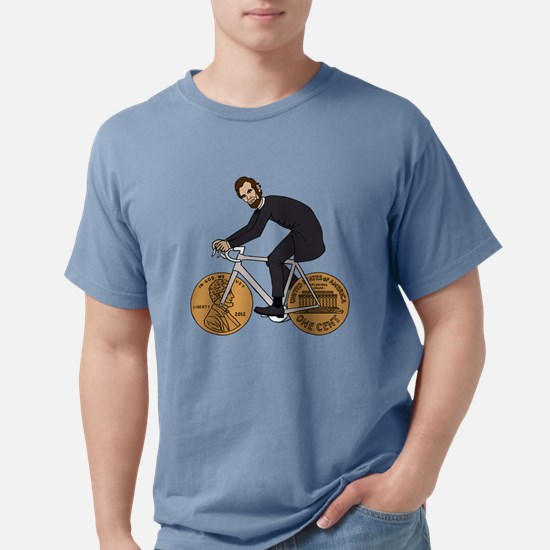 Abraham Lincoln On A Bike With Penny Wheels T-Shir