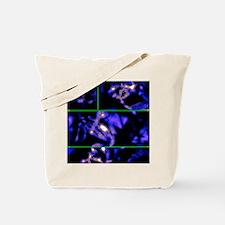 crystal garden blue Tote Bag