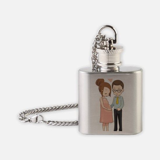 Were Pregnant Flask Necklace
