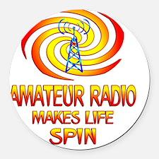 Amateur Radio Spins Round Car Magnet