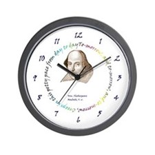 Shakespeare - To-morrow and To-morrow Wall Clock