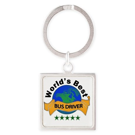 bus driver Square Keychain