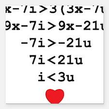 """love u Square Car Magnet 3"""" x 3"""""""