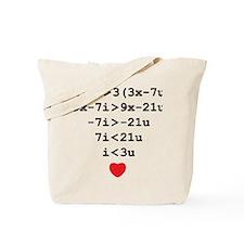 love u Tote Bag