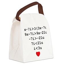 love u Canvas Lunch Bag