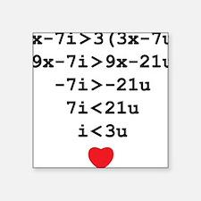 """love u Square Sticker 3"""" x 3"""""""
