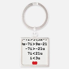 love u Square Keychain