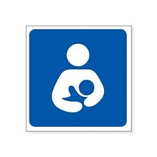 "Breastfeeding Icon-High Qua Square Sticker 3"" x 3"""