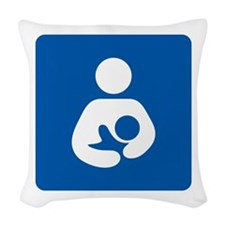 Breastfeeding Icon-High Qualit Woven Throw Pillow