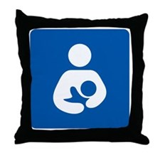Breastfeeding Icon-High Quality Throw Pillow