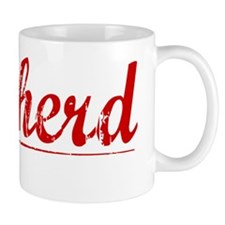 Cowherd, Vintage Red Mug