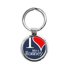 I Heart Romney Round Keychain
