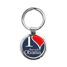 I Heart Obama Round Keychain