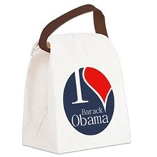 I Heart Obama Canvas Lunch Bag