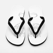 outline of a menorah Flip Flops