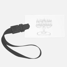outline of a menorah Luggage Tag