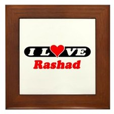I Love Rashad Framed Tile