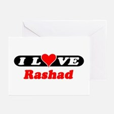 I Love Rashad Greeting Cards (Pk of 10)