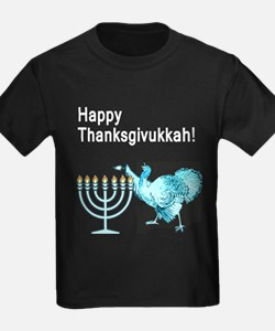 Happy Thanksgivukkah 1 dark T-Shirt