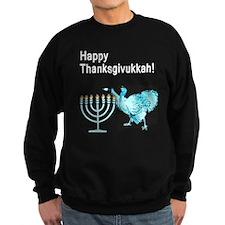 Happy Thanksgivukkah 1 dark Sweatshirt