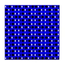 Blue Black Shapes Perception Tile Coaster