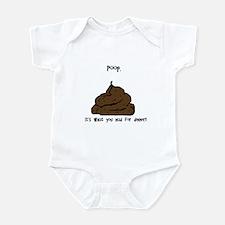 Poop. Infant Bodysuit