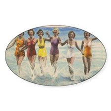 Vintage Long Island Beach Bathing B Decal