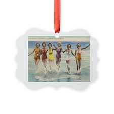 Vintage Long Island Beach Bathing Ornament