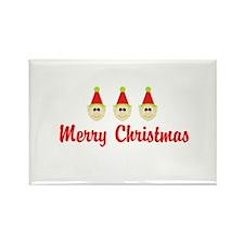 Merry Christmas Elf Trio Magnets