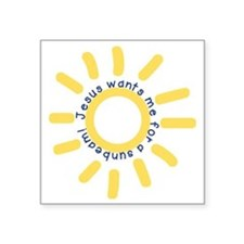 "Sunbeam Square Sticker 3"" x 3"""