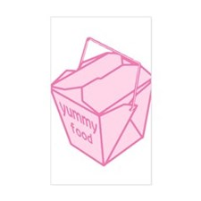 Pink Take Out Box Rectangle Decal