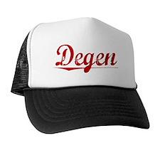 Degen, Vintage Red Trucker Hat