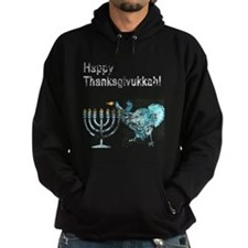 Vintage Happy Thanksgivukkah 1 dark Hoodie