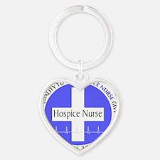 Hospice Nurse giving quality life Heart Keychain