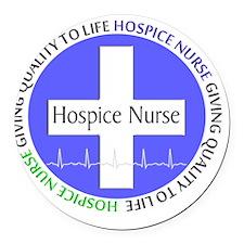 Hospice Nurse giving quality life Round Car Magnet