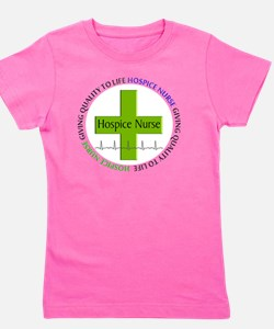 hospice nurse giving qulaity life 2 Girl's Tee