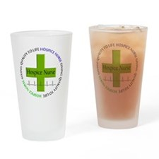 hospice nurse giving qulaity life 2 Drinking Glass