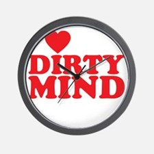 dirty mind Wall Clock