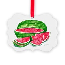 More Watermelon Please! Picture Ornament