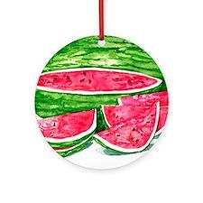 More Watermelon Please! Round Ornament