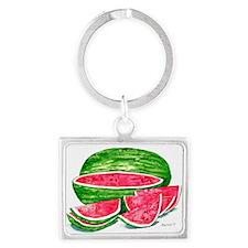 More Watermelon Please! Landscape Keychain
