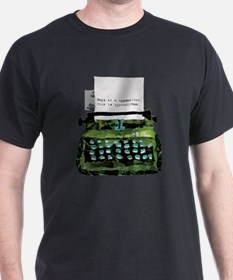 Ripped Typewriter T-Shirt