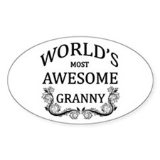World's Most Awesome Granny Decal