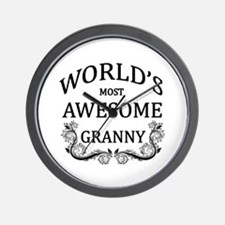 World's Most Awesome Granny Wall Clock